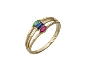 9ct Yellow Gold Multi Stone Ring