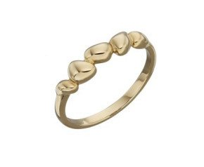 9ct Yellow Gold Organic Style Dress Ring