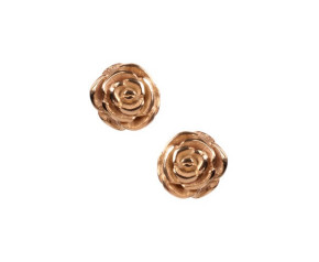 18ct Gold Vermeil Rose Studs