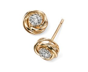 9ct Gold Diamond Stud Earrings