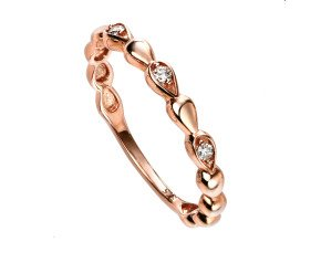 9ct Rose Gold Diamond Dress Ring