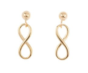 9ct Gold Infinity Drop Earrings