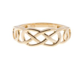 9ct Yellow Gold Celtic Style Ring