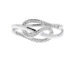 9ct White Gold Diamond Dress Ring