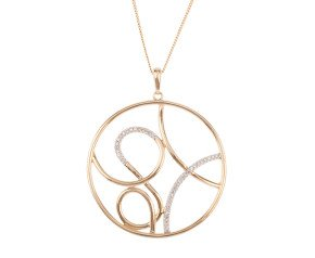 9ct Gold Diamond Contemporary Pendant