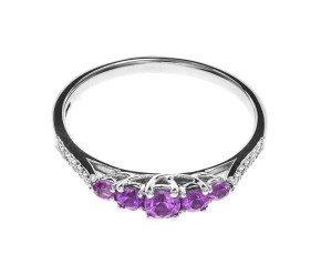 18ct White Gold 0.45ct Pink Sapphire & Diamond Dress Ring