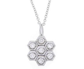 18ct White Gold 0.28ct Diamond Pendant