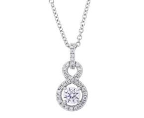 18ct White Gold 0.35ct Diamond Cluster Pendant