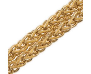 9ct Yellow Gold 4.06mm Spiga Chain