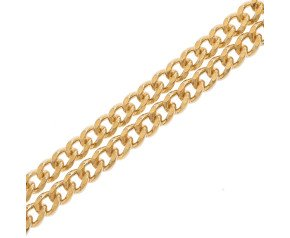 9ct Yellow Gold 2.88mm Filed Curb Chain