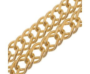 9ct Yellow Gold 6.86mm French Curb Chain