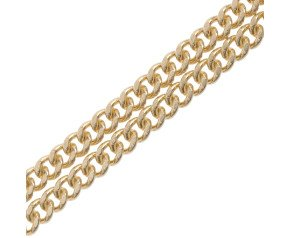 9ct Yellow Gold 2.11mm Filed Curb Chain Necklace