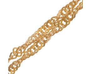 9ct Gold Twisted Curb Chain Necklace