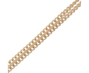 9ct Yellow Gold 0.83mm Filed Curb Chain