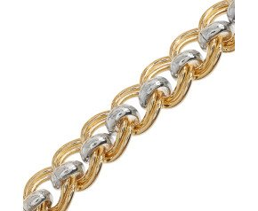 9ct Yellow & White Gold Cascarine Necklace