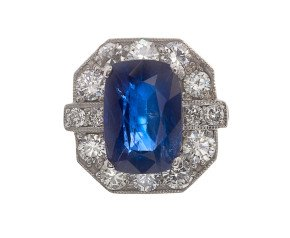 5.07ct Sapphire & Diamond Cluster Ring