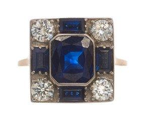 3.00ct Sapphire & Diamond Cluster Ring