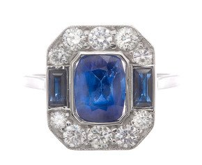 3.00ct Sapphire & Diamond Cocktail Ring