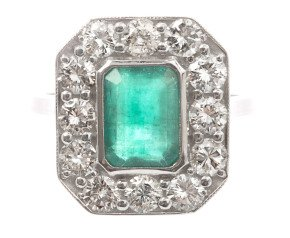 1.48ct Emerald & Diamond Ring