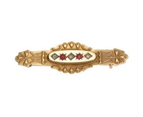 Antique Victorian 9ct Gold Brooch