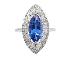 2.52ct Tanzanite & Diamond Cocktail Ring
