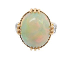 15.00ct Opal & Diamond Dress Ring