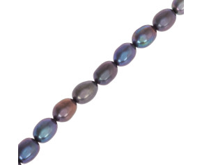 Sterling Silver Black Pearl Bracelet With Twig Catch