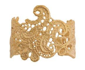 18ct Gold Vermeil Lace Cuff
