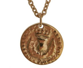 18ct Gold Vermiel Medium Bawbee Coin Necklace