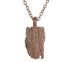 18ct Rose Gold Vermeil Bark Long Necklace
