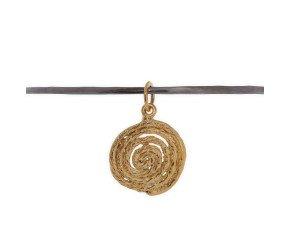 Black Rhodium & 18ct Gold Vermeil Bangle with String Spiral