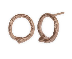 18ct Rose Gold Vermeil Knotted String Studs
