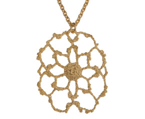 18ct Gold Vermeil Lace Cobweb Necklace