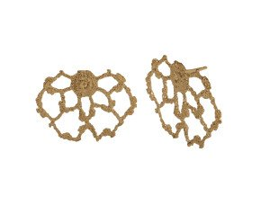 18ct Gold Vermeil Lace Cobweb Stud Earrings
