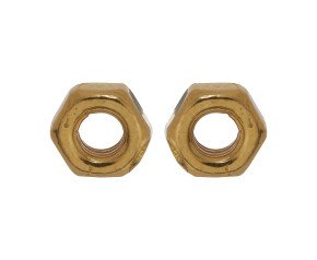 18ct Gold Vermeil Hex Nut Studs