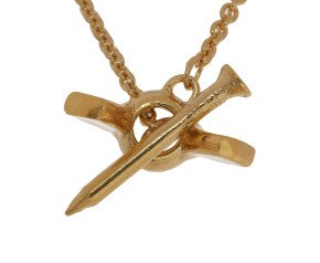 18ct Gold Vermeil Wing Nut Necklace