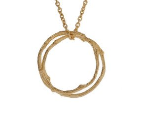 18ct Gold Vermeil Twig Circles Necklace