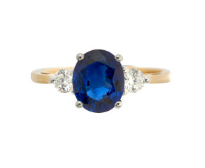 18ct Gold 1.87ct Sapphire & Diamond Ring