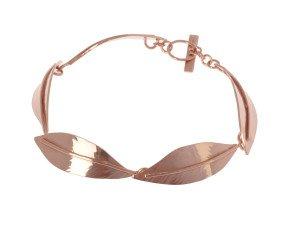 Sterling Silver & Rose Gold Vermeil Ash Leaf Bracelet