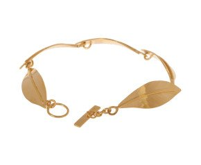 Sterling Silver & Yellow Gold Vermeil Ash Leaf Bracelet