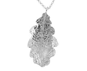 Sterling Silver Large Oak Leaf Pendant