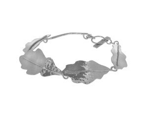 Sterling Silver Oak Leaf Bracelet