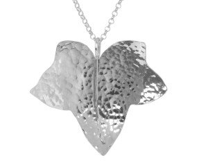 Sterling Silver Large Ivy Leaf Pendant
