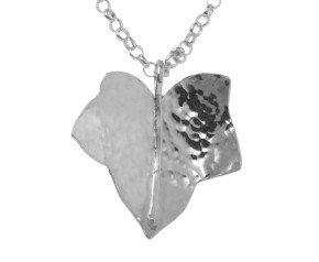 Sterling Silver Medium Ivy Leaf Pendant