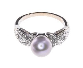 Tahitian Pearl & Diamond Dress Ring