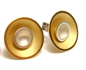 Sterling Silver & Gold Vermeil Small Target Studs