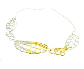 Sterling Silver & Gold Vermeil Lacewing Necklace