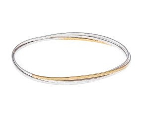 Sterling Silver Shimmer Wrap Bangle