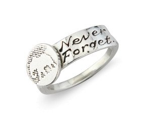Sterling Silver Never Forget Elephant Ring