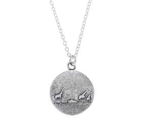 Sterling Silver Giraffe Family Necklace